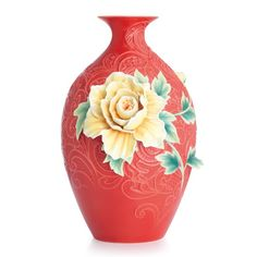 Peony on Lace Large Vase Limited Edition