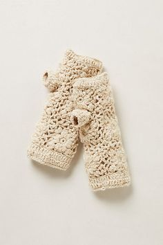 Hand-Crocheted Fingerless Gloves #anthropologie
