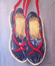 Peintures d'espadrilles du Pays Basque. Peintre Maruka