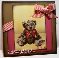 Sweet Baby Bear card created by Michelle Zindorf using Stampin' Up! products - Baby Bear Stamp set