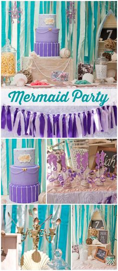 You won't believe how gorgeous this mermaid party is! See more party ideas at CatchMyParty.com!