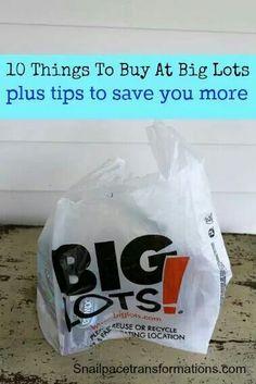 10 things to buy at big lots!