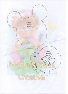 Minnie, Mickey Mouse, Teddy Bear, Children, Animals, Throw Pillows, Backpack Craft, Creative Crafts, Creativity