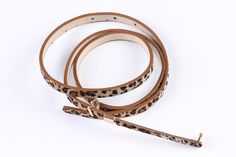 Fashion Sexy Leopard Grain PU leather Thin Belt Skinny Waistband yd12-baowen