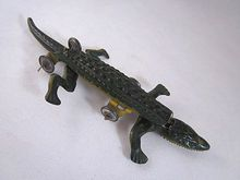 Tin Litho Made in Germany Penny Toy Alligator