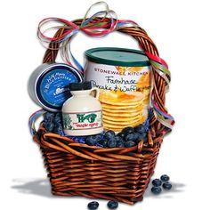 I love Stonewall Kitchen.  For Mother's Day, Birthday, Housewarming, Hostess Gift. Taste of New England Mini Breakfast Gift Basket™ by GourmetGiftBaskets.com, http://www.amazon.com/dp/B003IFLBCA/ref=cm_sw_r_pi_dp_kyForb1YJ7K48