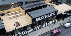 Boxpark em Shoreditch, londres