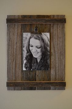 Reclaimed Wood Clip Picture Frame by SignsFromaSparrow on Etsy