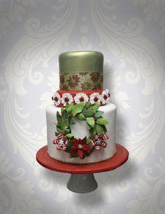 Christmas Wreath Cake | Satin Ice