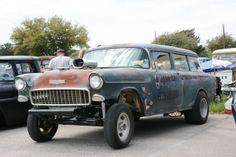 1955 Chevy wagon gasser