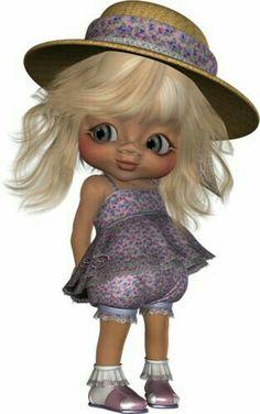 "Photo from album ""куклы"" on Yandex. Sarah Kay, Keane Big Eyes, Adorable Petite Fille, Black Art Pictures, Elephant Love, Little Designs, Black Barbie, Hello Dolly, Whimsical Art"