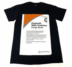 Cough Syrup Promethazine Codeine Sip Purple Lean Black T-Shirt