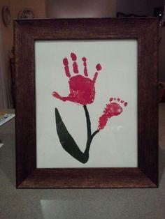 Handprint, footprint flower...so cute!