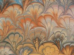 Marbled paper by Susan Mogany: