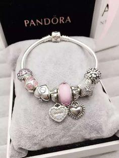 50% OFF!!! $199 Pandora Charm Bracelet Pink Purple. Hot Sale!!! SKU: CB01591 - PANDORA Bracelet Ideas