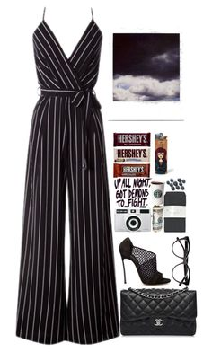 """""""If you ask me I'm ready."""" by adrielle260102 ❤ liked on Polyvore featuring Jimmy Choo, Chanel and Polaroid"""