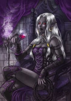 dark elf drow | today s picture is of a drow drow are dark skinned elves that live ...