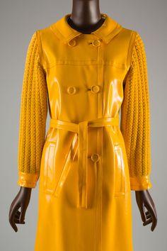 Yves Saint Laurent Rive Gauche, raincoat, 1966, gift of Ethel Scull.