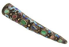 Antique Chinese Fingernail Shield Brooch