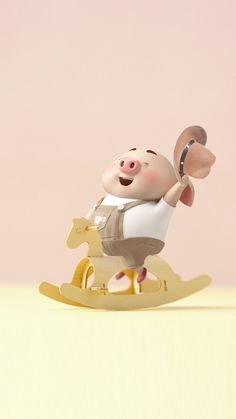 Pig Wallpaper, Snoopy Wallpaper, Cartoon Wallpaper, Disney Wallpaper, This Little Piggy, Little Pigs, Pig Images, Cute Piglets, 3d Art