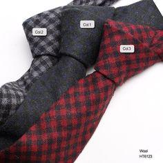 black mens wool ties  HT6123