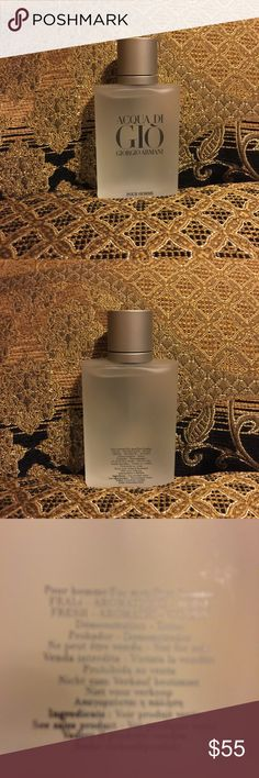 Acqua di Gio by Giorgio Armani 3.4 oz -100ml EDT. Pour Homme Spray New!!! Never used, without box.....very fresh and clean Ummm smell so Good!!!!  Price is firm posh fee!!! Giorgio Armani Other