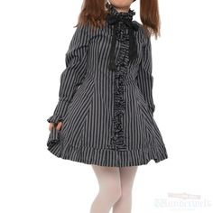 Stripe dress Brand: PUTUMAYO ¥ 6,990 including tax Shoulder width: 33cm Length: 82cm Width: 39cm Sleeve length: 61cm Ribbon: 138cm Outer material Cotton: 100% Lining Polyester: 100% Shearing: None Rank B: dirt-free used clothes Used Lolita clothing shop Wunderwelt