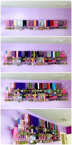 How to create a sports medals display. Easy and inexpensive medals rack.