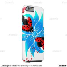 Ladybugs and Hibiscus Tough iPhone 6 Case