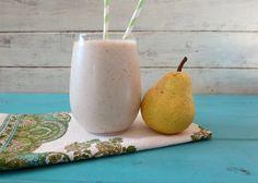 !! Cinnamon Pear Yogurt Oatmeal Breakfast Smoothie- one whole pear ...