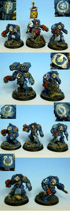 Ultramarines Terminators  I'm not one usually for the Vanilla Marines, but these look awesome...