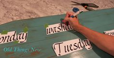 Easy way to transfer letters to wood signs!