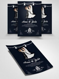 Wedding Invitation Flyer Template. Wedding Card Templates