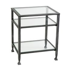 SEI Bunching Metal End Table by SEI. $85.50. Also available in a matching Cocktail Table and a Sofa Table.. Measures 16-inch wide, 20-inches deep and 24-inches high.. This End Table is sized right to use anywhere!. Black metal contemporary styling at it's finest!  The 'Bunching' Collection offers glass tops and a second glass shelf for books or decor.. Amazon.com                       SEI Bunching Metal End Table This Bunching Metal End Table will create an elegant at...