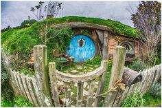 Hobbiton film set in New Zealand- a must-visit for Lord of the Rings fans!