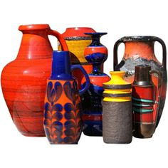 Collecton of Studio Craft 1950-1960s Pottery