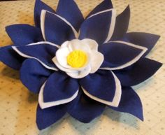 Royal Blue Large Flower With Sculptured Clay by ButtonsandBowzz, $10.00