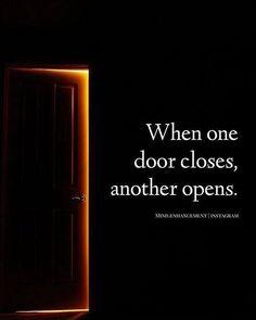 When one door closes..
