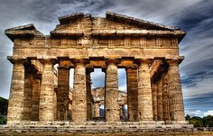 Paestum, Italy.  Greek temple