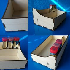 XyKit on Etsy - Shop Update - Check out this custom order that we did recently. She sent us the measurements of her tiny makeup drawer and the idea for a tray with a section like our lipstick organizers. It came out fantastic!