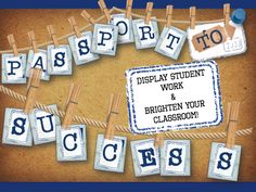 """Unique """"Passport to Success"""" Classroom Bunting... Simply download, print and HANG! It's that easy to transform your classroom into a masterpiece!"""