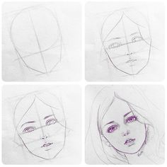 It's a freehand rough sketch before shading and toning. Girl Drawing Sketches, Face Sketch, Pencil Art Drawings, Manga Girl Drawing, Eye Drawings, Drawing Art, Drawing Tips, Figure Drawing, Realistic Face Drawing