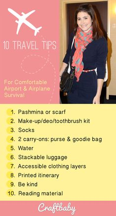 10 Airplane & Airport Survival Tips to help you brave your travel.
