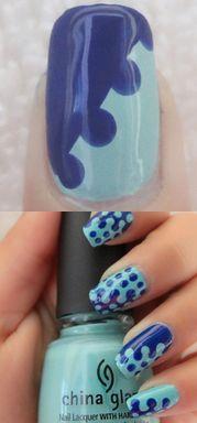 Nail Art Tutorial: Incredible Blue Nail Design
