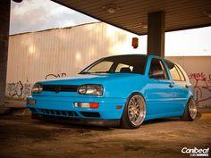 Blue Volkswagen Stance Nation Lowered