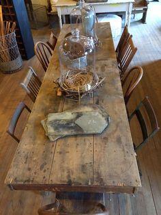 old farm table with mismatched chairs anthony