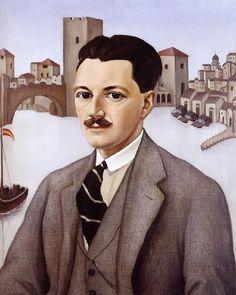 Portrait of an Englishman (Roger Money-Kyrle), 1926 by Christian Schad (German, 1894-1982)