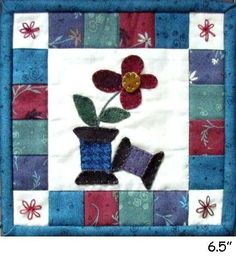 Tiny Quilts Thru the Year, May Wool Kit. Finished size is 6 1/2 inches square. Pattern included.