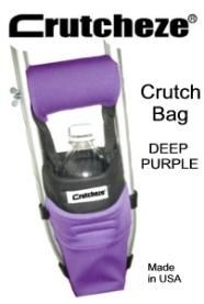 Crutcheze Underarm Crutch Bags are small and lightweight but stretchable to allow enough room to carry all of your personal items, including water bottles, electronic devices, wallets, etc.  #crutches #brokebones #purple http://www.myrecovers.com/Crutcheze-Crutch-Bag-Purple-p/cb-purple.htm