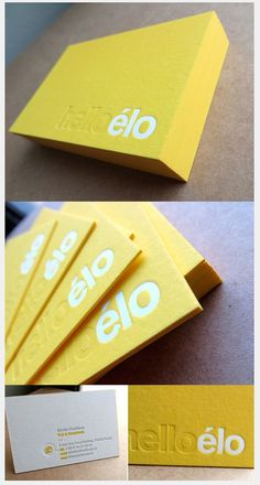 Business card . #yellow